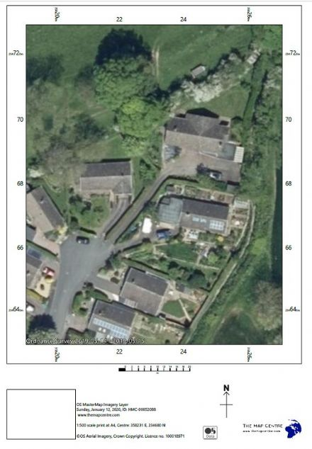 Air Photo by Ordnance Survey  Scale 1:500 - Print By POST